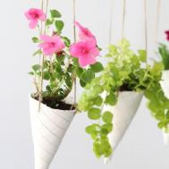 Ice Cream Cone Diy Hanging Planters Helloglow