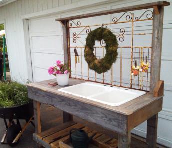 Ideas Potting Bench Sink Homemade