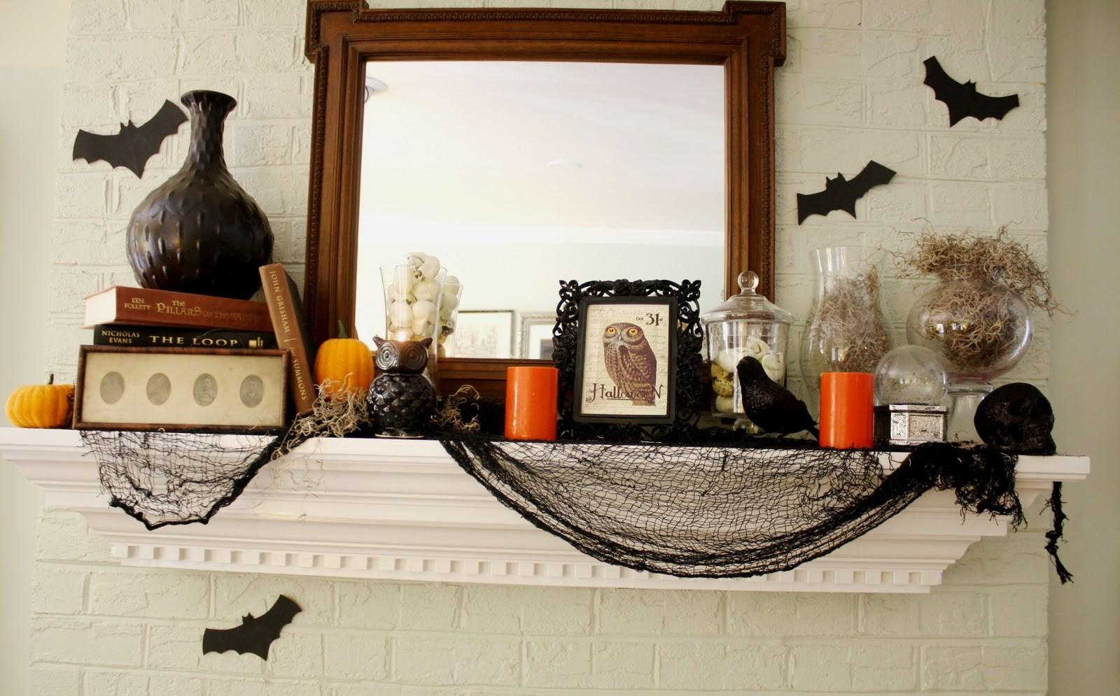 Resourceful Halloween Mantle Decorating Ideas That Are