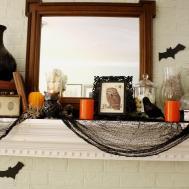 Ideas Spooky Mantel Design Halloween Theme