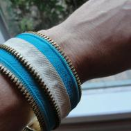 Imperfectly Beautiful Easy Zipper Cuff Bracelet