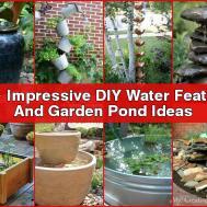 Impressive Diy Water Feature Garden Pond Ideas