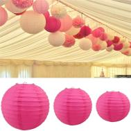 Inch Round Paper Lanterns Lamp Shade Wedding Party