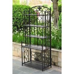 Indoor Outdoor Wrought Iron Metal Bakers Rack Shelf