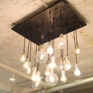 Industrial Chandelier Vintage Bulbs Now Urbanchandy