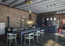 Industrial Dining Room Interior Design Orchidlagoon