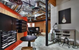 Industrial Meets Vintage Stunning Office Space