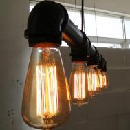 Industrial Vintage Ceiling Lights Chandelier Metal Pipe
