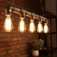 Industrial Vintage Metal Pipe Pendant Lamp Steampunk