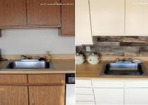 Inexpensive Kitchen Makeover Tile Backsplash
