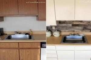 Inexpensive Kitchen Makeover Tile Backsplash