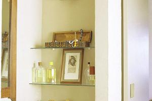 Instant Glass Bathroom Shelves Storage Idea Shampoo