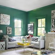 Interior Decorating Ideas Stylish Green Rooms
