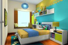 Interior Design Boys Room Blue Wall