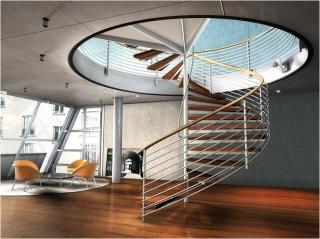 Interior Furniture Cool Spiral Staircases Design