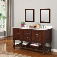 Intriguing Greyoak Finish Bathroom Vanity Set Black Oak