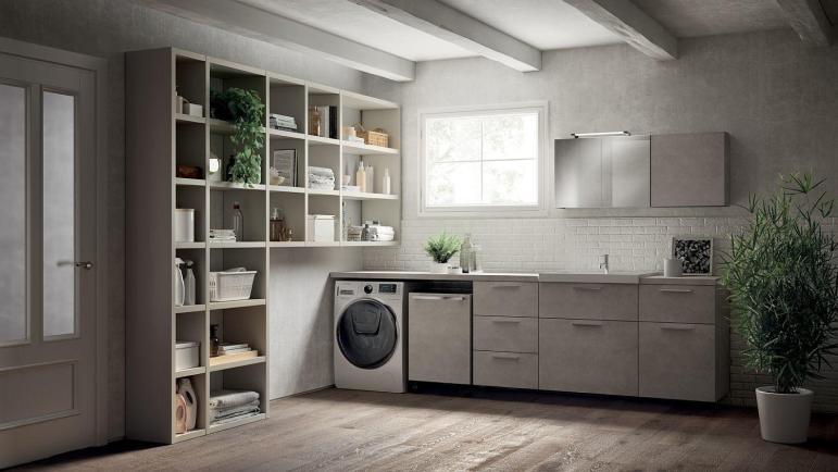 Inventive New Scavolini Composition Combines Bathroom