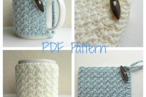 Items Similar Mug Cozy Crochet Pattern Cup