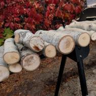 Jac Crafts Faux Fireplace Log Stack