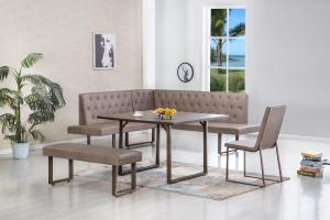James Corner Breakfast Nook Dining Set Nader Furniture