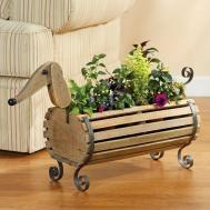 Jet Exclusive Wooden Dachshund Flower Planter Dog