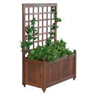 Jordan Manufacturing Wood Planter Box Trellis