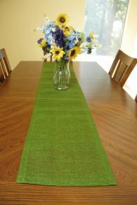 Jute Table Runner Green