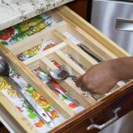 Keep Clean Diy Kitchen Drawer Utensil Organizer Warm
