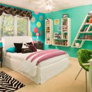 Kids Bedroom Accent Wall Brown Boy Carpet Black