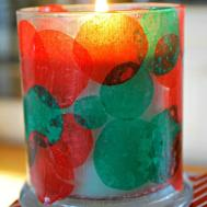 Kids Christmas Craft Candle Holder Mess Less