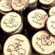 Kissing Polar Bear Wood Slice Magnets Custom Order Kristin