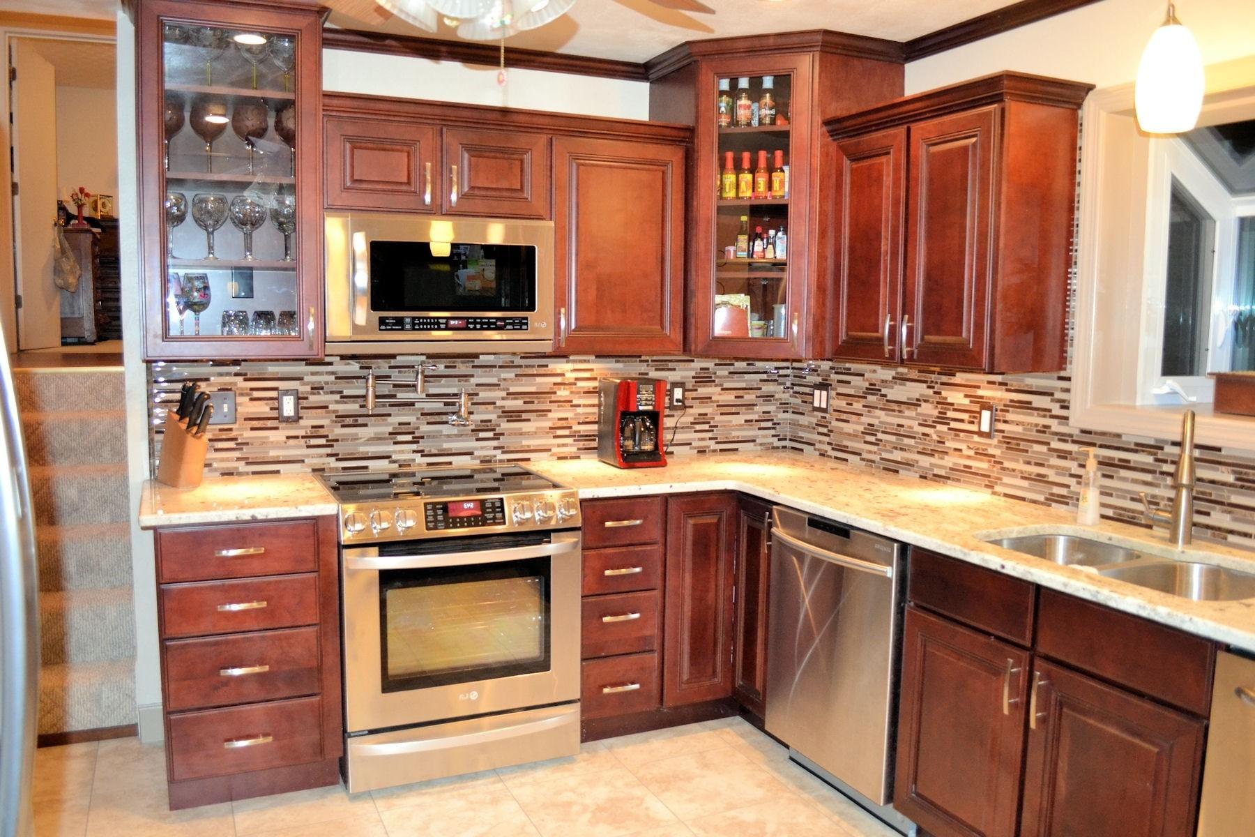 Kitchen Backsplash Ideas Maple Cabinets Pics ... on Natural Maple Kitchen Backsplash Ideas With Maple Cabinets  id=72449
