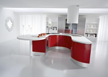 Kitchen Black Red Ideas
