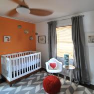 Kitchen Classy Black Gray Bedroom Orange