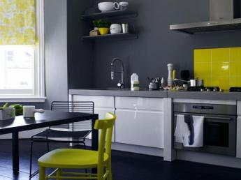 Kitchen Colour Schemes Blue Yellow Grey