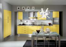 Kitchen Decorating Ideas Red Accents Grey Yellow