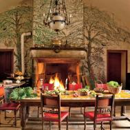 Kitchen Fireplace Home Design Ideas Photos Architectural