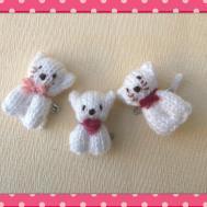 Knitted Bear Cat Pins Knits Sachi