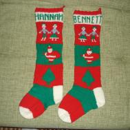 Knitted Christmas Stockings Garland Chirstmas