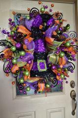 Kristen Creations Halloween Mesh Wreath