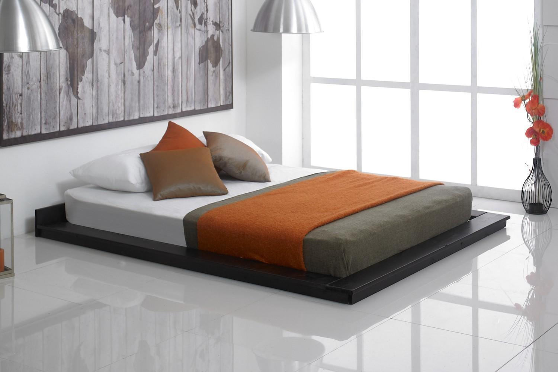 kyoto oriental wooden floating bed frame bedworld