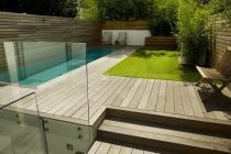 Lane Swimming Pool Contemporary Garden Designed