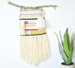 Lap Loom Woven Wall Hanging Mama Stitch