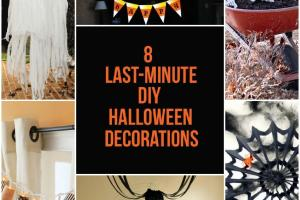 Last Minute Diy Halloween Decorations