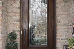 Leaded Beveled Glass Front Door