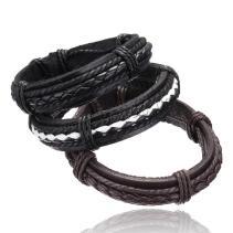 Leather Bracelets Bangles High Quality Cool