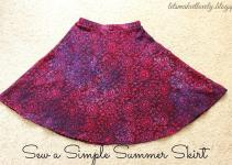 Let Make Lovely Sew Simple Summer Skirt