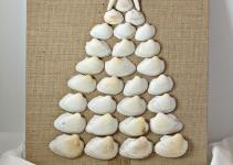 Life Boys Diy Seashell Christmas Tree Canvas Board