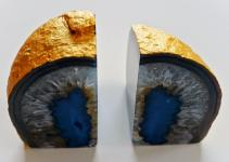 Life Dash Whimsy Diy Gold Leaf Agate Bookends