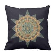 Life Star Mandala Decor Accent Pillow Zazzle